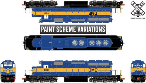 ScaleTrains SXT31262 SD40-2 DM&E #6361 ESU LokSound DCC & Sound Rivet Counter (SCALE=HO)  Part # 8003-SXT31262