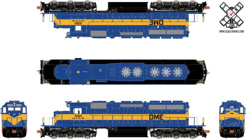 ScaleTrains SXT31266 SD40-2 DM&E City of New Ulm #6384 ESU LokSound DCC & Sound Rivet Counter (SCALE=HO)  Part # 8003-SXT31266