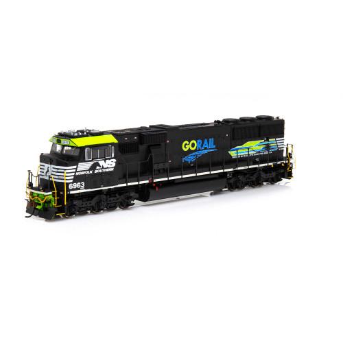 Athearn ATHG65258 SD60E NS Norfolk Southern Go Rail #6963 with DCC & Sound Tsunami2  (SCALE=HO)  Part #ATHG65258