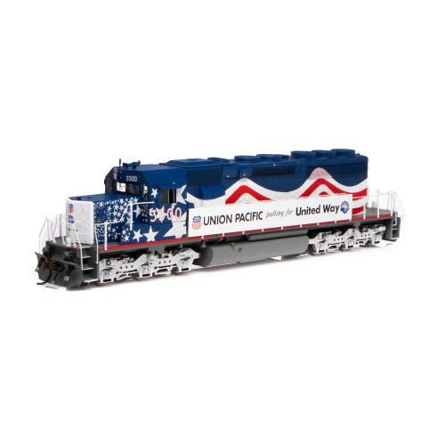 Athearn ATH71629 SD40-2 UP - United Way #3300 with DCC & Sound  (SCALE=HO)  Part #ATH71629