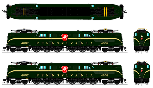 BLI 4691 GG1 PRR Pennsylvania #4821 Broadway Limited  (SCALE=HO)  Part # 187-4691