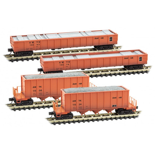Micro Trains 993 02 010 Maintenance of Way Four car Pack - Amtrak (SCALE=N) PART #489-99302010