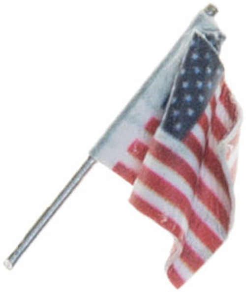 Woodland Scenics 5953 Small Wall Mount US Flag - Just Plug(TM) (SCALE=ALL)  Part # 785-5953