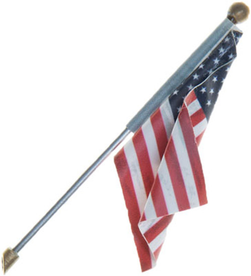 Woodland Scenics 5955 Large Wall Mount US Flag - Just Plug(TM) (SCALE=ALL)  Part # 785-5955