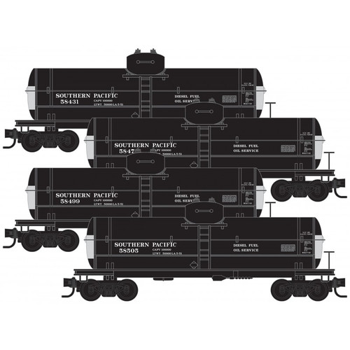 MICRO TRAINS 993 00 163 SP - Southern Pacific 4 Runner Tank Car Pack  (SCALE=N)  PART # 489-99300163