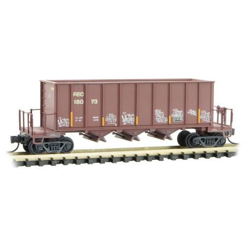 Micro-Trains 125 44 140 43' Rapid Discharge Hopper - FEC - Florida East Coast #18073 (Scale=N) 489-12544140