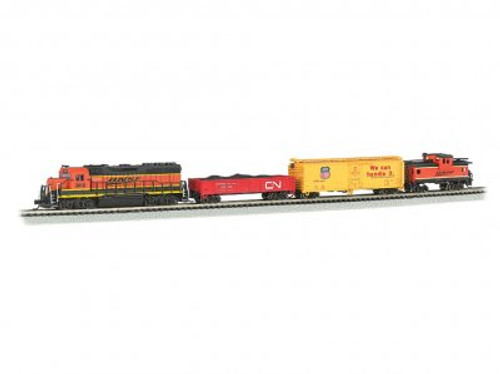 Bachmann N Scale Train Set 24132 - Roaring Rails Set DCC & Sound (SCALE=N) Part#=160-24132