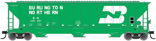 ATLAS 20005459 Thrall 4750 Covered Hopper - BN - Burlington Northern #448845 (SCALE=HO) Part # 150-20005459