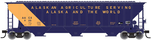 ATLAS 20005464 Thrall 4750 Covered Hopper - AACX - Alaskan Agriculture Serving Alaska & the World #012 (SCALE=HO) Part # 150-20005464
