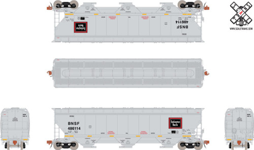 Scaletrains {SXT30780} Gunderson 5188CF Hopper BNSF - CB&Q #486114 (Scale=HO) Part#8003-SXT30780