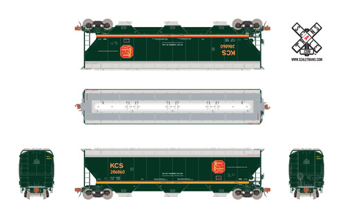 Scaletrains {SXT31590} Gunderson 5188CF Hopper KCS - Kansas City Southern - Belle #286931 (Scale=HO) Part#8003-SXT31590