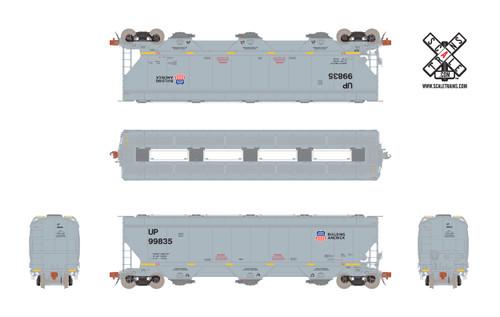 Scaletrains {SXT31611} Gunderson 5188CF Hopper UP - Union Pacific - Anti Graffiti Reporting Marks #99887 (Scale=HO) Part#8003-SXT31611