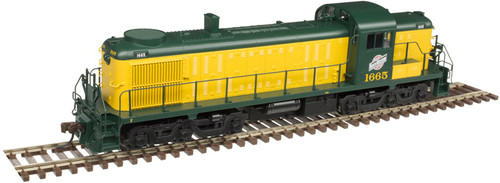 Atlas 10003052 Alco RSD4/5 - LokSound and DCC - Classic Gold -- Chicago & North Western 1665 (yellow, green)-DCC & Sound (Scale=HO) Part#150-10003052