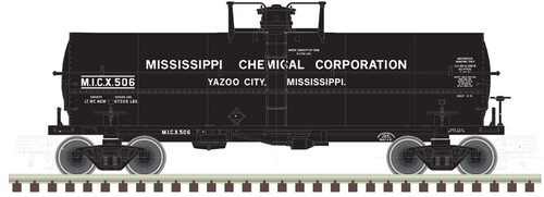 ATLAS 20005487 11000 Gallon Tank Car - MICX - Mississippi Chemical #506 (SCALE=HO) Part # 150-20005487