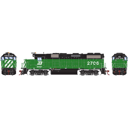 Athearn ATHG65620 GP39-2 Phase II BN - Burlington Northern #2706 with DCC & Sound Tsunami2  (SCALE=HO)  Part #ATHG65620