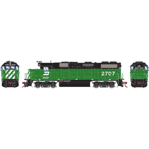 Athearn ATHG65621 GP39-2 Phase II BN - Burlington Northern #2707 with DCC & Sound Tsunami2  (SCALE=HO)  Part #ATHG65621