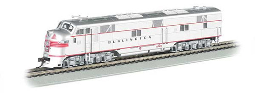 66603 / EMD E7-A - Sound & DCC Chicago, Burlington & Quincy (silver, red) (Scale=HO) Part #160-66603