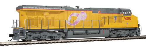 Walthers Mainline 910-10194 UP Union Pacific Breast Cancer Awareness #7400 DCC Ready (SCALE=HO)  Part # 910-10194