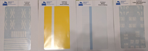 71-1234 Highways & Byways Graphics DECALS (SCALE=N) Part # 71-1234