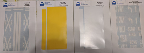 70-1234 Highways & Byways Graphics DECALS (SCALE=HO) Part # 70-1234
