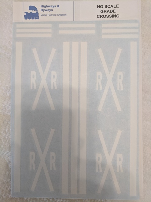 70-1 Highways & Byways Grade Crossings Graphic Decals (SCALE=HO) Part # 70-1