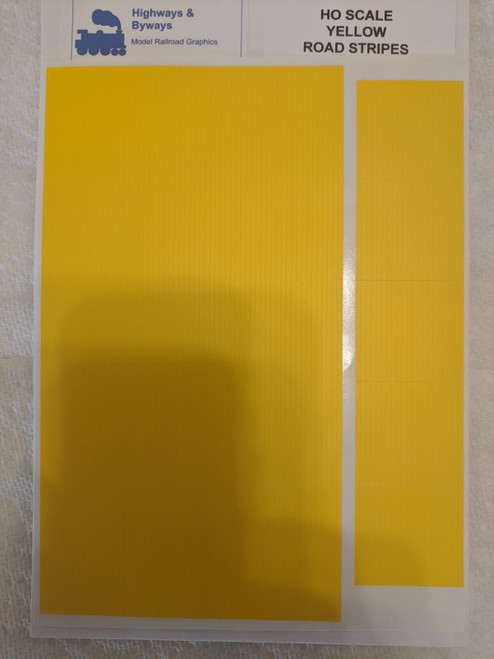 70-2 Highways & Byways Yellow Road Stripes Graphic Decals (SCALE=HO) Part # 70-2