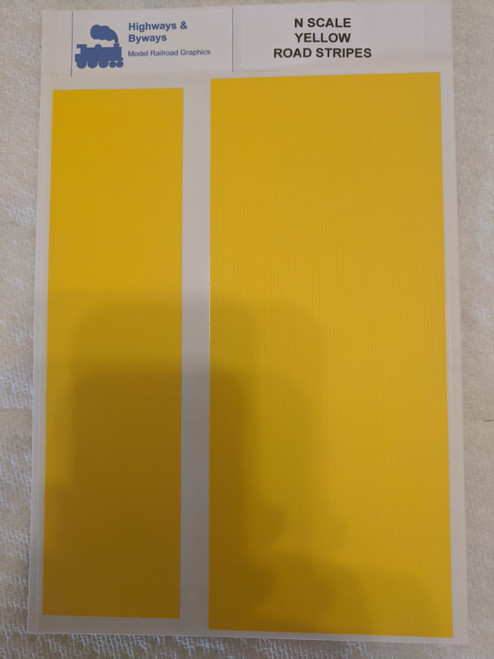 71-2 Highways & Byways Yellow Road Stripes DECALS (SCALE=N) Part # 71-2