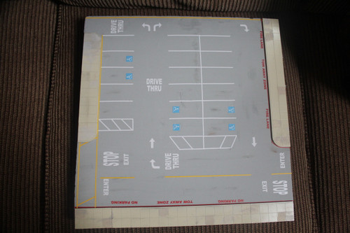 """70-123456 """"HO"""" Highways & Byways Retail Parking Graphics DECAL  Set of 6 (SCALE=HO) Part # 70-123456"""