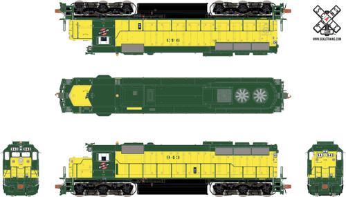 Scaletrains {SXT32166} EMD SD45 - C&NW Chicago & Northwestern #943 - ESU v5.0 DCC & Sound (SCALE=HO) Part #8003-SXT32166