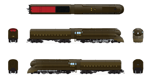 BLI 4433 K4 Streamlined 4-6-2 PRR Pennsylvania #3768 Broadway Limited  (SCALE=HO)  Part # 187-4433