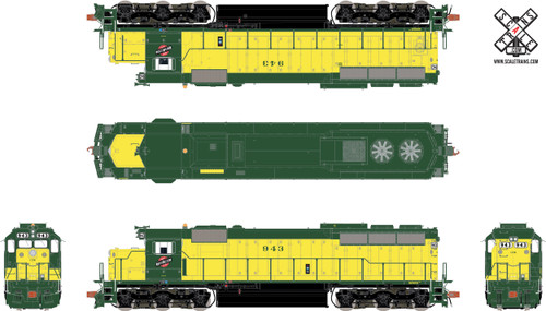 Scaletrains {SXT32170} EMD SD45 - C&NW Chicago & Northwestern #962 - ESU v5.0 DCC & Sound (SCALE=HO) Part #8003-SXT32170