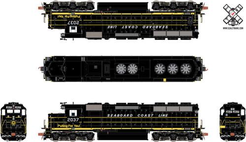 Scaletrains {SXT32192} EMD SD45 - SCL - Seaboard Coast Line #2028 - ESU v5.0 DCC & Sound (SCALE=HO) Part #8003-SXT32192