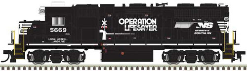 ATLAS 40004139 GP38 - NS - Norfolk Southern Operation Lifesaver #5669 DCC & Sound (SCALE=N) Part # 150-40004139