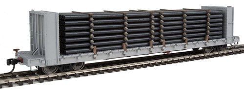 Walthers 949-3250 - Pipe Load for Walthers 48' Bulkhead Flat Car (Scale=HO) Scenemaster Part #949-3250