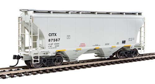 Walthers Mainline 910-7529 39' Trinity 3281 2-Bay Covered Hopper - CITX -  CIT Group #87567 (SCALE=HO)  Part # 910-7529