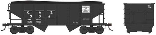 Bowser 37970 - GLa 2 Bay Hopper - C&I - Cambria & Indiana #596 (Scale=N) Part #6-37970