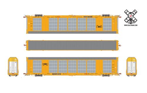 Scaletrains {SXT32143} Gunderson Multi-Max Autorack CSX - TTGX #695475 Rivet Counter ScaleTrains  (SCALE=HO)  Part # 8003-SXT32143