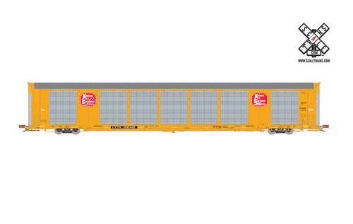 Scaletrains {SXT32149} Gunderson Multi-Max Autorack KCS - Kansas City Southern - Yellow - CTTX #695154 Rivet Counter ScaleTrains  (SCALE=HO)  Part # 8003-SXT32149