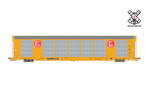 Scaletrains {SXT32152} Gunderson Multi-Max Autorack KCS - Kansas City Southern - Yellow - TTGX #691217 Rivet Counter ScaleTrains  (SCALE=HO)  Part # 8003-SXT32152