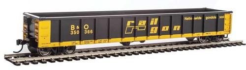 Walthers Mainline 910-6202 53' Railgon B&O #350366  (SCALE=HO)  Part # 910-6202