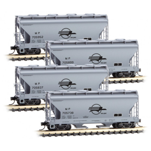 MICRO TRAINS 993 00 170 MP - Missouri Pacific 4 Car Runner pack  (SCALE=N)  PART # 489-99300170