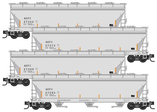 MICRO TRAINS 993 00 166 ACFX 4 Car Runner pack  (SCALE=N)  PART # 489-99300166