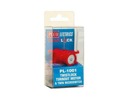 Peco PL-1001 Twistlock Turnout Motor & Twin Microswitch N, HO or O Scale