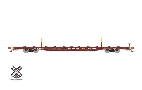 Scaletrains SXT32227 BSC F68BH Finger Rack Flatcar TTJX - Trailer Train - Oxide Red #80507 HO Scale