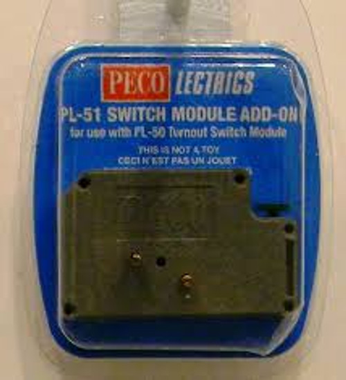 PL-51 Peco / Switch Module Extension add-on (SCALE=ALL ) Part # 552-PL-51