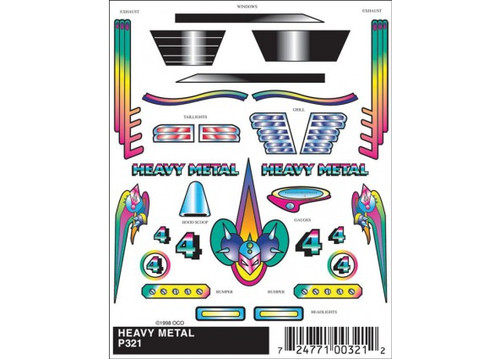 Woodland Scenics 321 PineCar(R) Stick-On Decals -- Heavy Metal A Scale