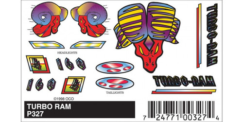 Woodland Scenics 327 PineCar(R) Stick-On Decals -- Turbo Ram A Scale