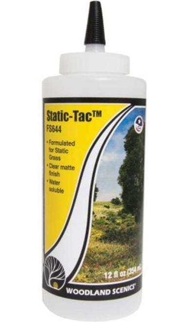 Woodland Scenics 644 Static-Tac(TM) - Field System -- 12oz 118 mL A Scale
