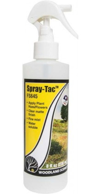 Woodland Scenics 645 Field System -- Spray-Tac(TM) - 8oz  237mL A Scale