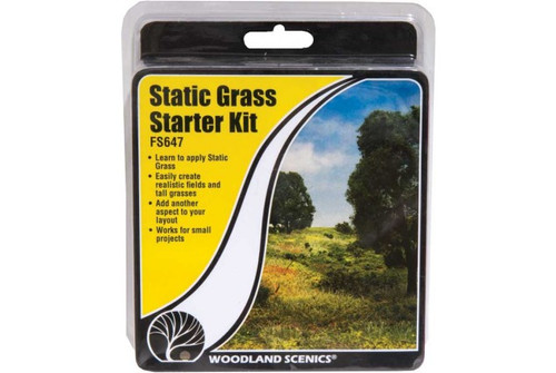 Woodland Scenics 647 Field System -- Static Grass Starter Kit A Scale